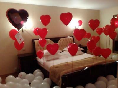 10-100 Heart I Love You Balloons Valentines Day Romantic Baloons His/Her Gifts • 3.99£