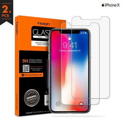 AU44.99 • Buy Apple IPhone X Tempered Glass Screen Protector Film Spigen Korea GLAS.tR Slim