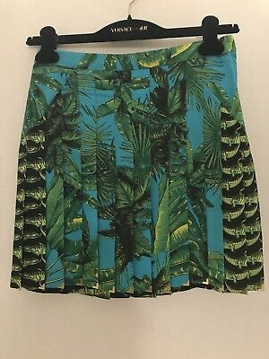 £109.08 • Buy Versace For H&m Pleated Silk Skirt Size 4 Us Brand New With Tags Attached