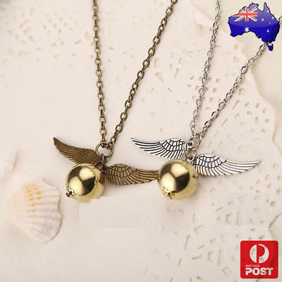 AU6.98 • Buy Harry Potter Quidditch Wings Golden Snitch Pendant Necklace Gold & Silver