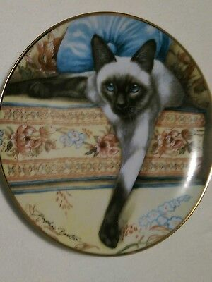 £14.38 • Buy Franklin Mint Blue Eyes Siamese Cat Plate Collectible Daphne Baxter Heirloom