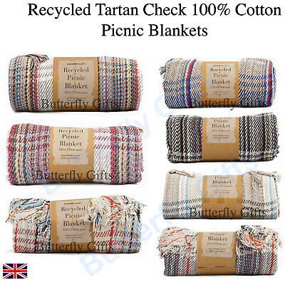 £10.95 • Buy Luxury Large Recycled Check Tartan Blankets Throw Warm Winter Heavy Blankets