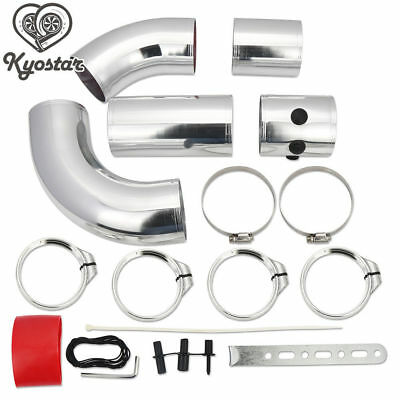 AU68.99 • Buy Universal 3 Inch Aluminium Air Filter Turbo Intake Intercooler Piping Pipe 5pcs