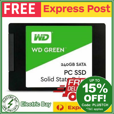 AU56 • Buy WD SSD 240GB Green SATA 2.5  Internal Solid State Drive Laptop Replacement