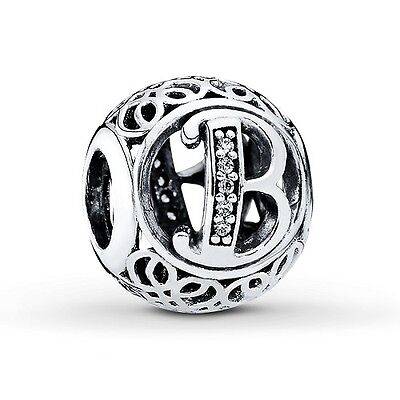 AU26.99 • Buy S925 Sterling Silver EURO  Charm Vintage Alphabet Letter B Jewelicious Designs