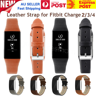 AU13.29 • Buy Genuine Leather Wrist Watch Band Replacement Strap For Fitbit Charge 2 Wristband