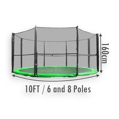 £27.95 • Buy Replacement Trampoline Safety Net Enclosure Surround 10FT 6 And 8 Poles