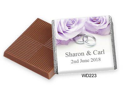 50 Personalised Chocolate Wedding & Party Favours. *Huge Selection* & FREE POST • 8.75£