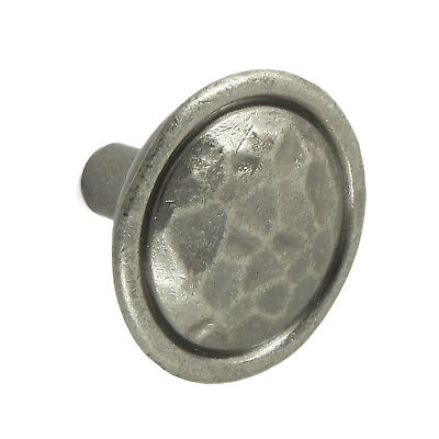 Mottled Pewter Finish Door / Drawer Knob | Kitchen Cupboard Cabinet Handle 35mm • 2.18£