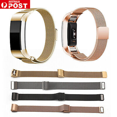 AU7.29 • Buy For Fitbit Charge 2 Band Stainless Steel Metal Milanese Loop Wristband Strap