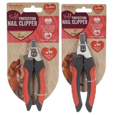 £6.49 • Buy Rosewood Dog & Cat Nail Clippers - Small / Large Soft Pet Salon Quality Grooming