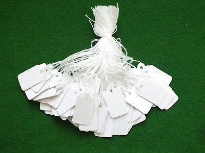 500 White Strung Price Tags Jewellery With String Tie On Labels Gifts • 4.95£