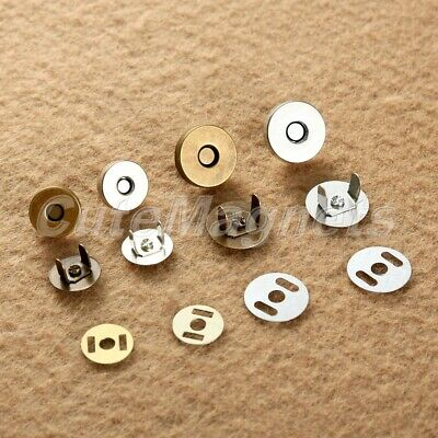10/50Sets 14/18mm Magnetic Snap Fasteners Clasps For Handbag Bags Sewing Buttons • 1.66£