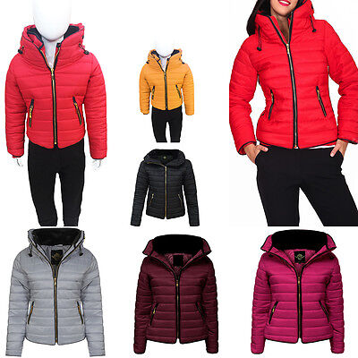 New Womens Kids Ladies Quilted Padded Puffer Bubble Fur Collar Warm Jacket Coat • 13.95£