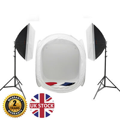 Super Bright Product Photography Continuous Lighting Kit & Pop Up Diffuser Tent • 384.99£