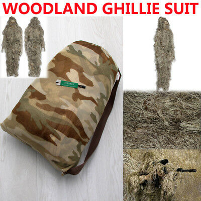 AU91.96 • Buy Desert Ghillie Suit Hunting Archery Sniper Wrap Bag Paintball Camo Adult Gilly