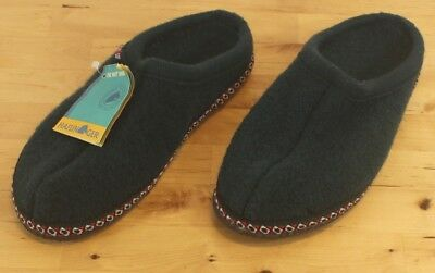 Haflinger Mens  The Hut Shoe  Green Wool Slip On Slippers Sz 8 Made In Germany • 31.88£