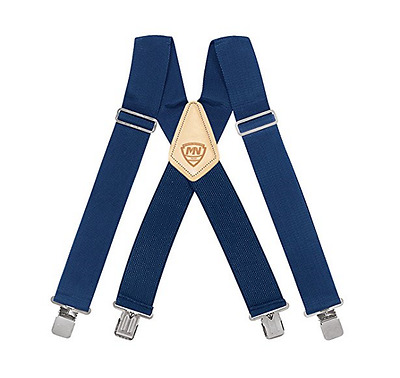 $12.40 • Buy McGuire Nicholas 112 2 Inch Suspenders - BLACK/BLUE/RED New !!