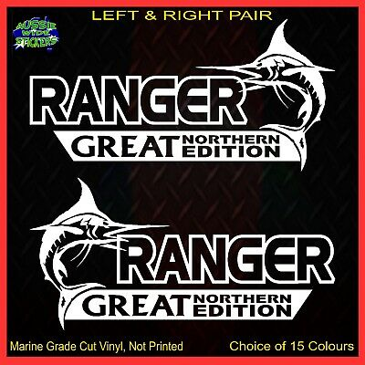 AU12.90 • Buy RANGER Stickers Accessories Ute 4x4 MX Funny Decal GREAT NORTHERN 200mm PAIR