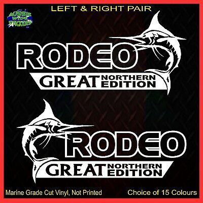 AU12.90 • Buy RODEO 4x4 Stickers Accessories Ute Car MX Funny Decal GREAT NORTHERN 200mm PAIR