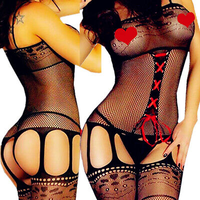 $6.69 • Buy Sexy-Lingerie-Sleepwear-Women-Mesh-Stocking-Babydoll-Lace-Underwear-Nightwear