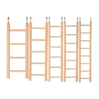 £3.99 • Buy Trixie Ladder Ladder Wooden Cage Toy For Birds & Small Animal Rodents & 2 Hooks