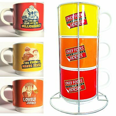 £14.99 • Buy Only Fools And Horses Stacking Coffee Cup / Tea Set  - 3 Cup Set And Holder