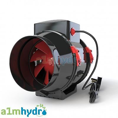 Black Orchid Mixed Flo In Line Ducting Extractor Fan Hydroponics • 39.95£