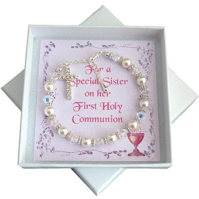 Bracelet For First Holy Communion. Gift Box For Daughter, Goddaughter, Niece Etc • 14.99£