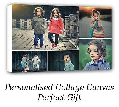 Personalised Canvas Prints Photo Collage Canvas Image - Perfect Gift  • 15.99£