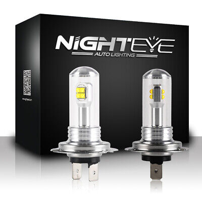 AU21.99 • Buy NIGHTEYE H3 LED Fog Light Bulbs Driving Daytime Lamp DRL White 160W 1600LM/Set