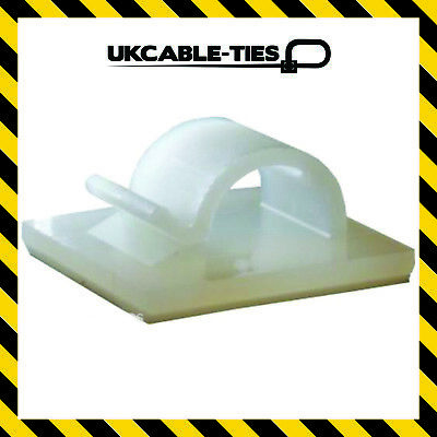 £2.39 • Buy Self-Adhesive Nylon Clips Fasteners For Wire, Cable, Conduit