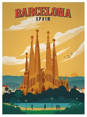 ** Vintage TRAVEL POSTERS - Gift - A4 - Retro Prints - Home - Wall Art Decor- • 2.99£
