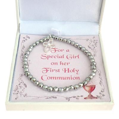 First Holy Communion Bracelet. Gift Box For Daughter, Granddaughter, Niece Etc • 9.99£