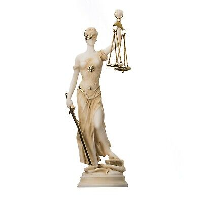 £35.42 • Buy Greek Goddess Themis Statue Gold Colour Blind Lady Justice Sculpture Lawyer Gift