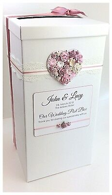 Wedding Guest Book PLUS Post Box Vintage Lace  Rustic Floral Heart.Personalised  • 41.99£