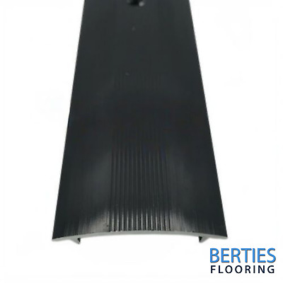 Carpet To Carpet - Cover Strip - Black - Threshold / Metal • 6.95£