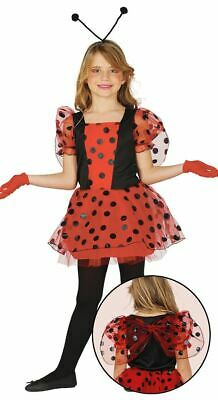 Girls Ladybird Bug Fancy Dress Costume + Wings Insect Animal Book Day Outfit • 12.99£