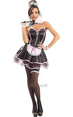 £15.99 • Buy Naughty French Maid Ladies Fancy Dress Bedroom Role Play Costume Womens Outfit