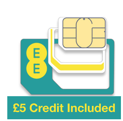 £3.99 • Buy EE Pay As You Go Trio Sim Card, Preloaded With £5 Credit, Does Not Expire