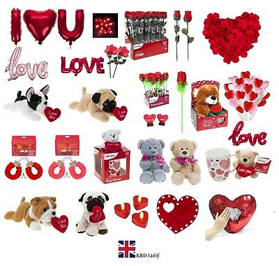 VALENTINES DAY ROMANTIC GIFTS His & Her Love Heart Cute Bears Valentine Gift UK • 3.25£