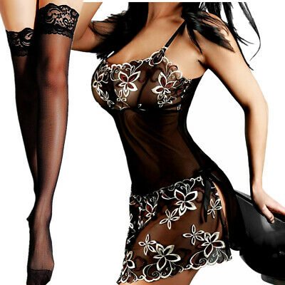 $8.94 • Buy Sexy Lingerie Sleepwear Lace Women Stocking Underwear Babydoll Nightwear Costume