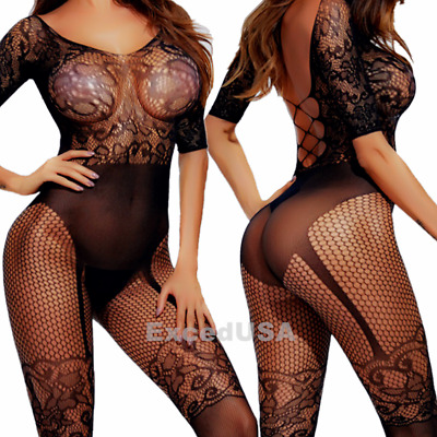 $8.48 • Buy Sexy-Lingerie-Women-Sleepwear-Stocking-Babydoll-New-Chemise-Nightwear-Underwear