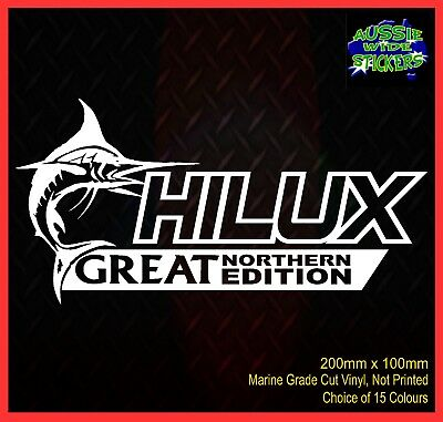 AU6.90 • Buy HILUX Stickers Accessories Ute Car MX Funny Decal GREAT NORTHERN 200mm