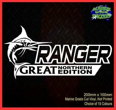 AU6.90 • Buy RANGER Stickers Accessories Ute Car MX Funny Decal GREAT NORTHERN 200mm