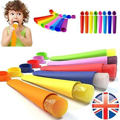 *UK Seller* 1~20X Silicone Ice Cream Pole Mold Lollies Maker Push Up Lolly Mould • 4.38£