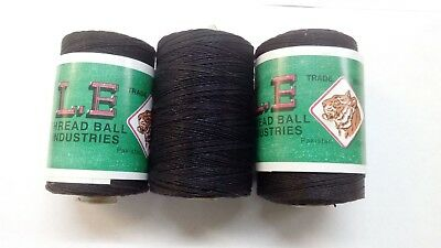 £9.99 • Buy 100% Cotton Heavy Duty Black Threads For Leather Tent Canvas Flag Tent Repair UK
