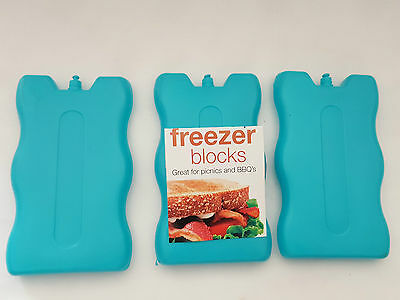 2x Non Toxic Freezer Block For Cool Bags Ice Boxes New Blue Picnic Lunch Travel  • 2.99£