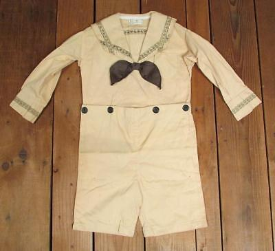 £201.57 • Buy Vintage 1930s Childrens Antique Sailor Type Formal Outfit Top/Shorts NOS Age 7