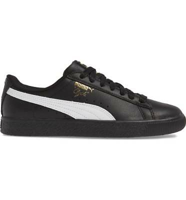 PUMA Men's CLYDE CORE L FOIL Shoes Black/White/Gold 364669-04 B • 40.49£